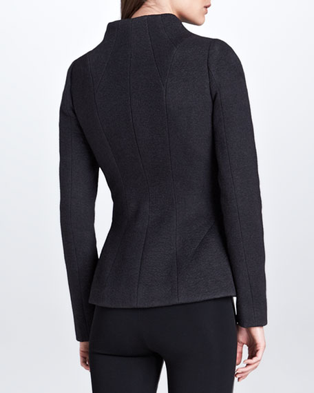 Asymmetric Zip Jacket, Charcoal