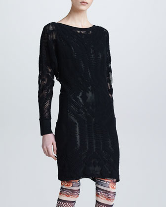 Lace Tunic with Metallic Underlay