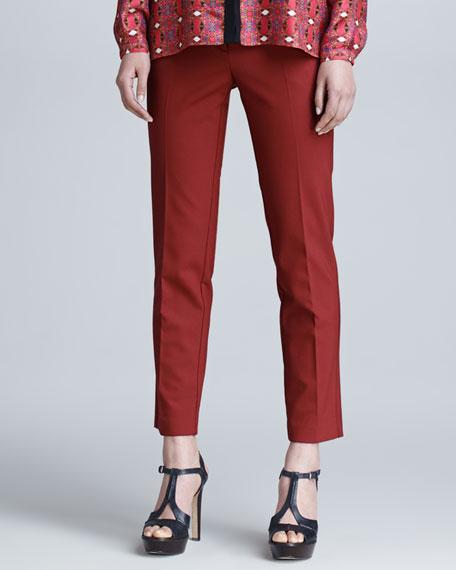 Cropped Gabardine Pants