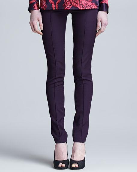 Slim Medusa-Hardware Knit Pants