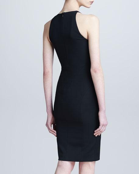 Asymmetric Zip-Detail Dress