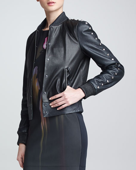 Teddy Studded Leather Jacket