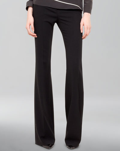 Akris Farrah Wool Boot-Cut Pants