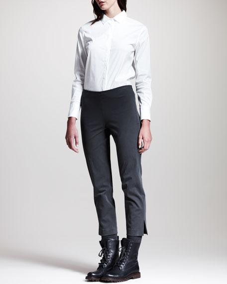 Side-Slit Cropped Pants