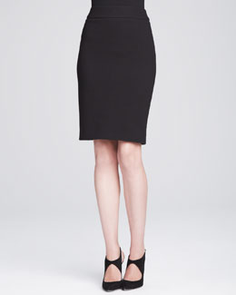 Armani Collezioni Knit Pencil Skirt, Black
