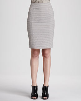 Burberry London Seersucker Pencil Skirt