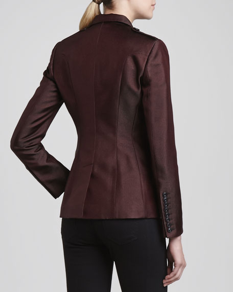 Jacquard One-Button Blazer