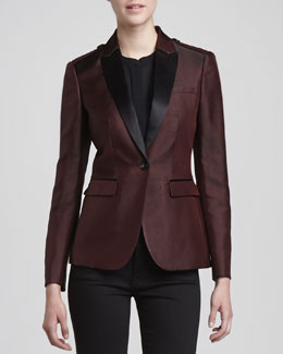 Burberry London Jacquard One-Button Blazer