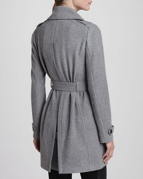 Belted Cashmere Wrap Coat
