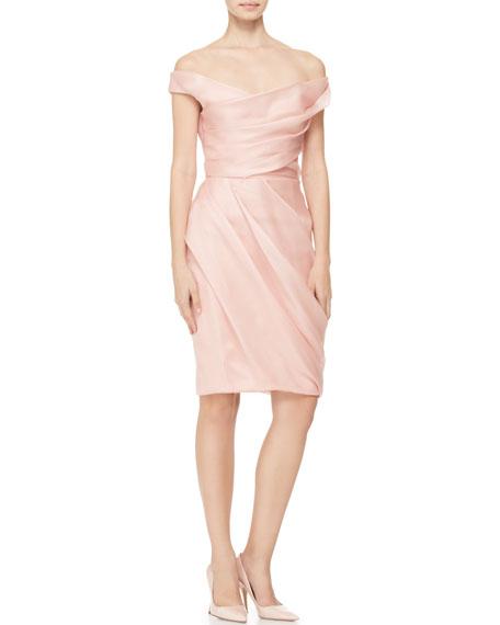 Draped Off-Shoulder Dress