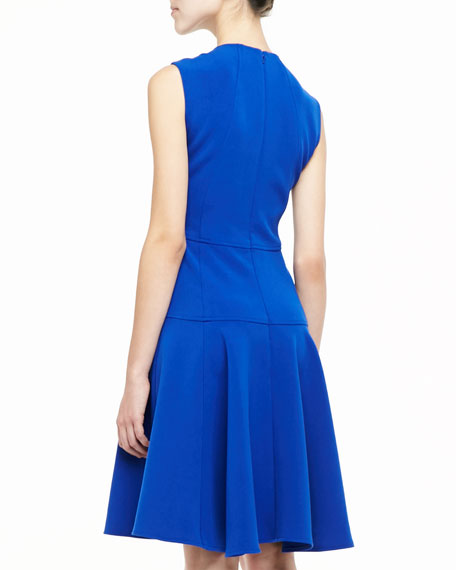 Sophia Seamed Drop Waist Dress, Cobalt