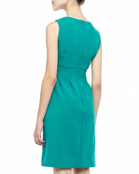 Sleeveless Classic Sheath Dress, Jade