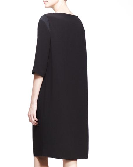 Oversized Half-Sleeve Dress
