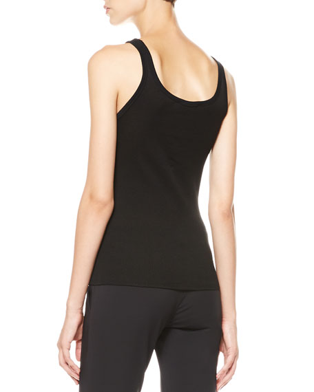 Ribbed Scoop-Back Tank
