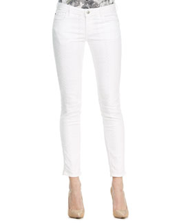 Faith Connexion Tile Laser Skinny Jeans, White