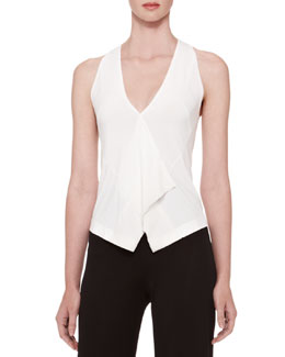 Donna Karan Georgette-Trim Vest Top