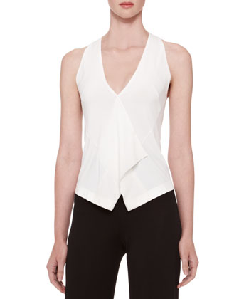 Georgette-Trim Vest Top
