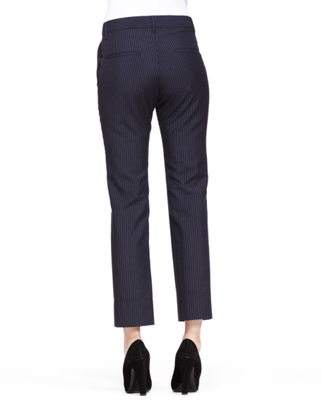 Ronny Cropped Pinstripe Trousers