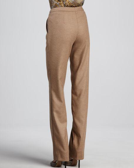 Classic Zip-Front Pants, Pecan