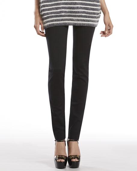 Black Stretch Cotton Skinny Pants