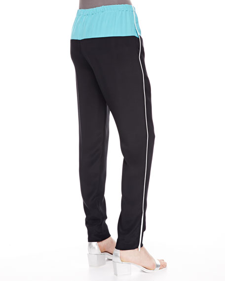 Jogging Pants with Zip Ankles, Black