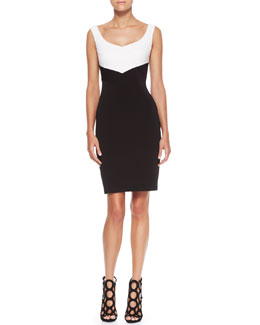 Escada Quilted Jersey Sleeveless Dress
