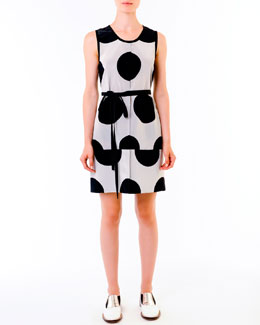 Marni Dot-Print Dress, Black/White
