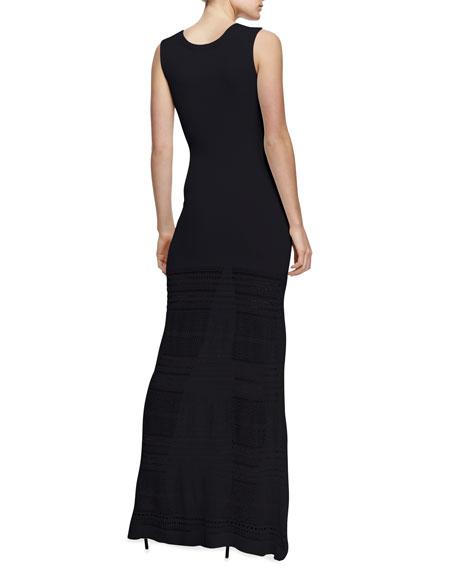 Pointelle-Knit Maxi Dress