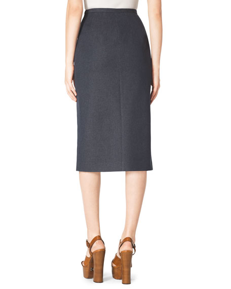 Front-Slit Pencil Skirt