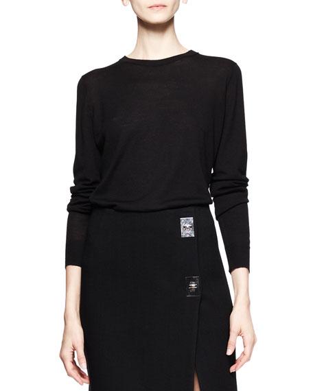 Long-Sleeve Merino Pullover