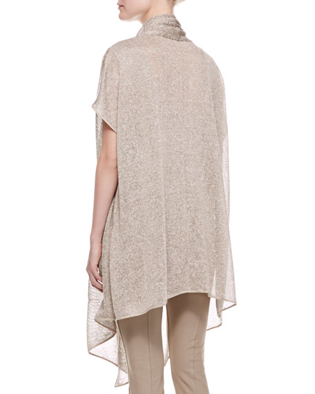Short Sleeve Draped Cozy, Khaki