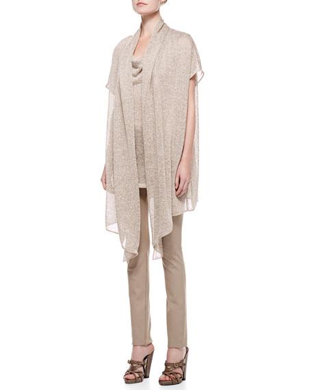 Short Sleeve Draped Cozy, Khaki