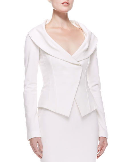 Off-the-shoulder Jacket, Ivory