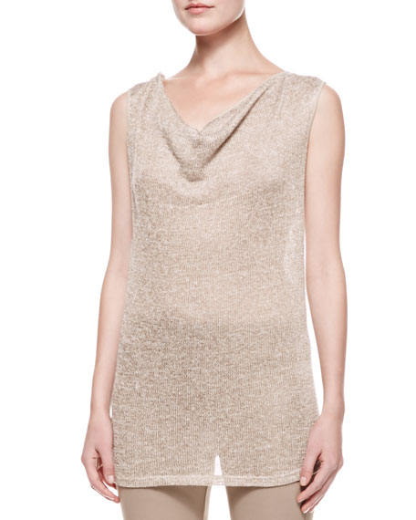 Draped Top with Twisted Straps, Khaki