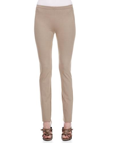 Donna Karan Straight Leg Body II Pants, Khaki