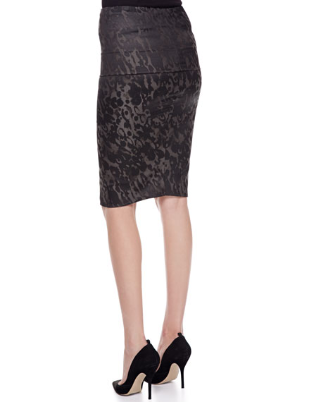 Tube Skirt with Fold-Over Waist, Slate
