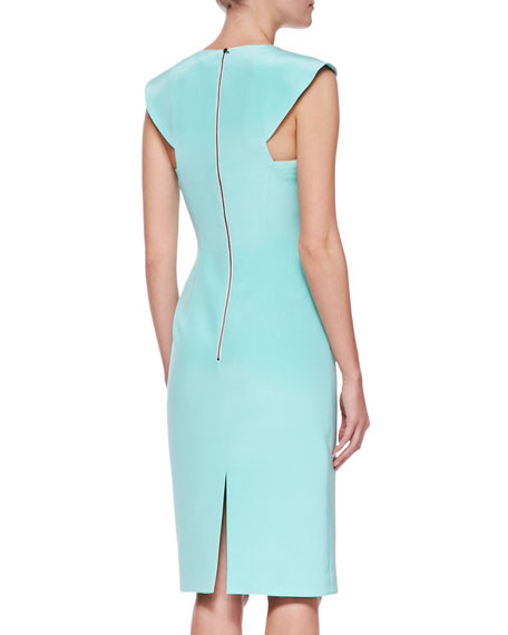 Sculpted Silk Shift Dress