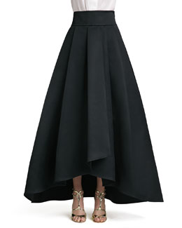 St. John Collection Duchesse Origami Ruffle Gown Skirt