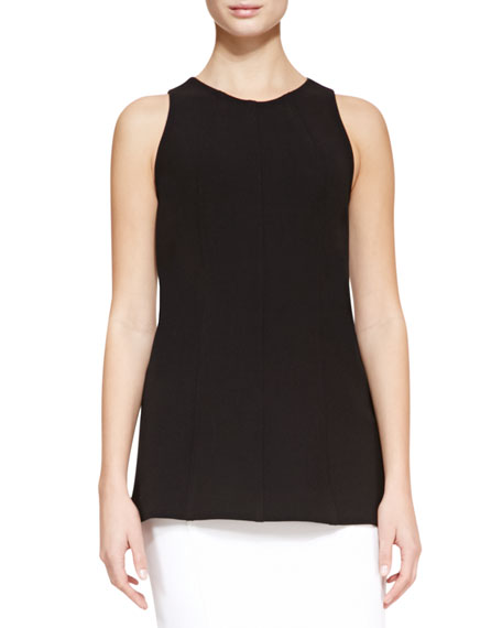 Seamed Tank, Black