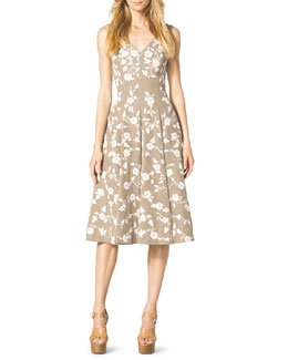 Michael Kors  Floral-Embroidered Dance Dress
