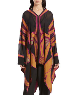 Gucci Stained Glass Print Poncho