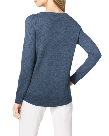 Arch-Hem Knit Sweater