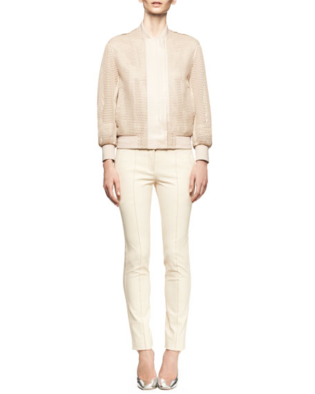 Piped Stretch Skinny Pants