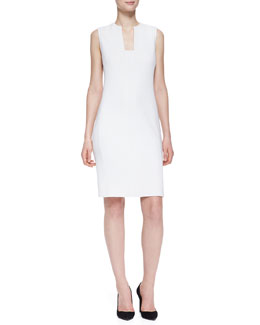 Ralph Lauren Black Label Danielle Notch-Neck Sheath Dress