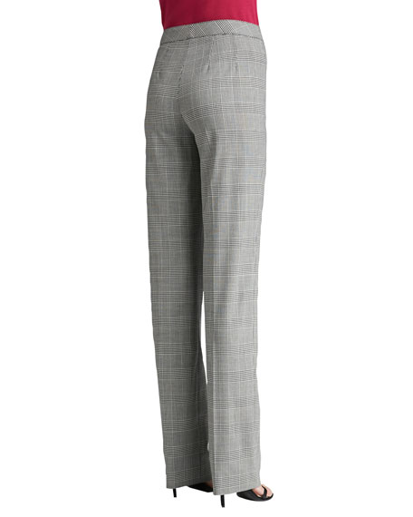 Prince of Wales Plaid Suiting Straight Leg Diana Pants