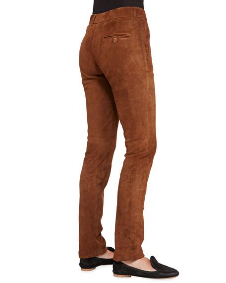 Ethan Stretch-Suede Slim Pants