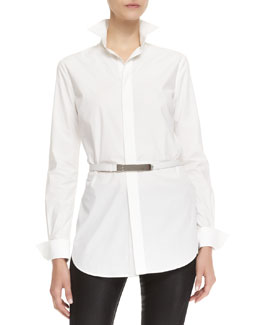 Ralph Lauren Black Label Crawford Long-Sleeve Belted Shirt