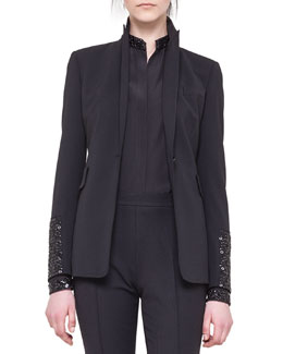 Akris punto Embellished-Sleeve Cocktail Jacket