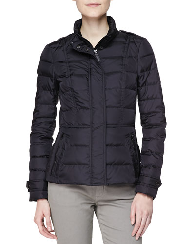 Short Feminine Puffer Jacket, Black