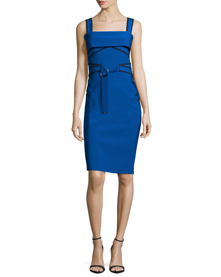 Mugler Wide-Straps Jersey Sundress